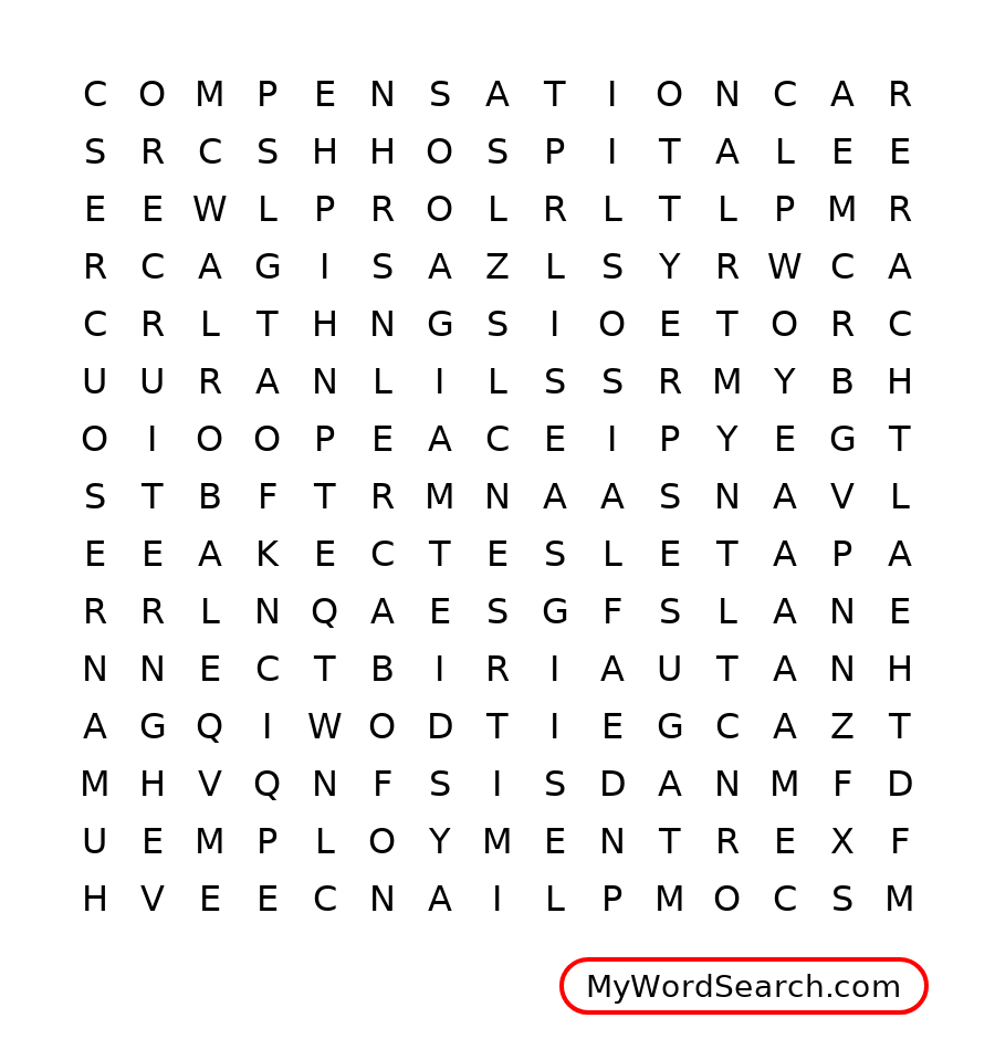 Employment Word Search